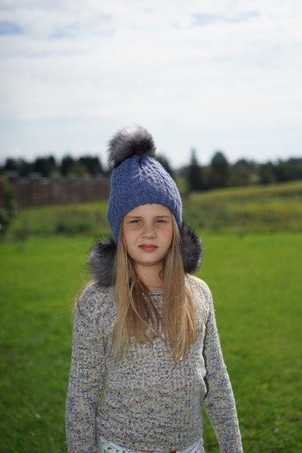 Красивая шапка для девочек 0-2 года