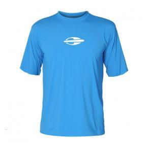 S507MC Лайкровая рубашка MORMAII короткий рукав синяя