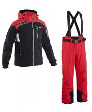 8848 Altitude куртка «KENSIN» черный +брюки «BASE-68» красный
