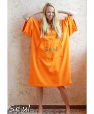 Флисовое пончо SOUL (оранжевый)