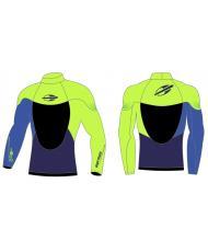 S508STMC3 Лайкровая рубашка MORMAII «STORM» сине-зеленая