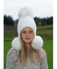 """1515 Подростковая шапочка """"ВЕРОНА белая"""
