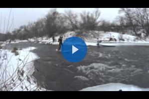 Ледяной SUP от наших друзей из Коломны
