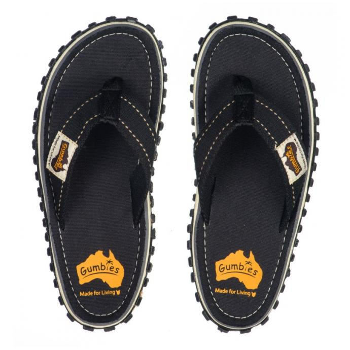 Шлепки Gumbies Flip Flop Black (BLK) - Артикул GMBS BLK*S16 - Фото 1