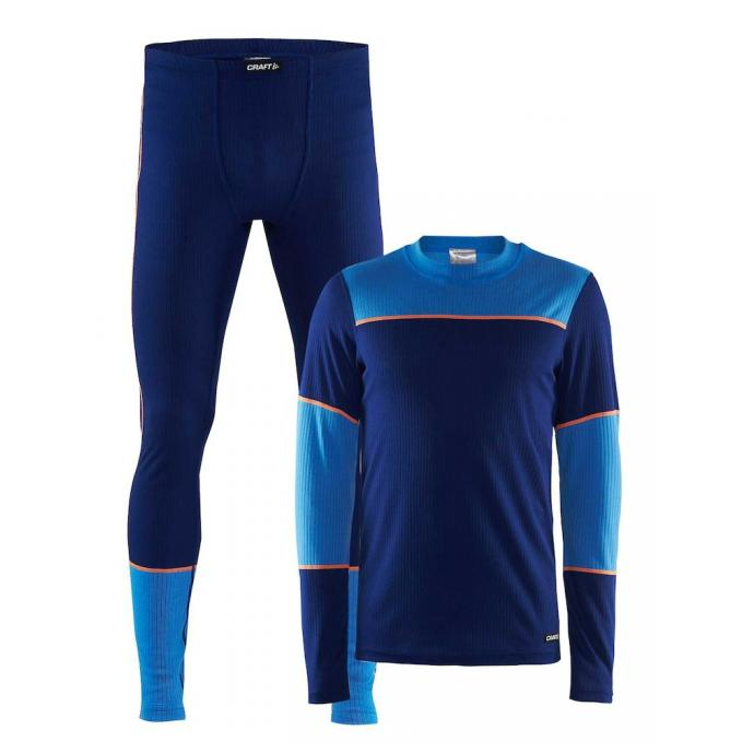 Комплект CRAFT Baselayer - 1905332/392355 CRAFT Baselayer Blue - Цвет Синий - Фото 3