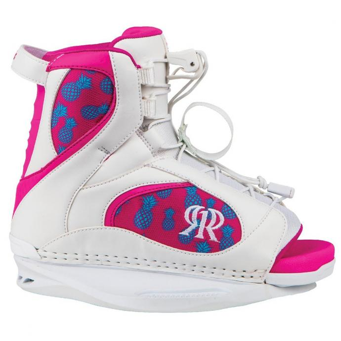 Крепления для вейкборда RONIX AUGUST GIRL'S BOOT - 88032 WHITE / PINK PINEAPPLE EXPRESS - Цвет WHITE / PINK PINEAPPLE EXPRESS - Фото 1