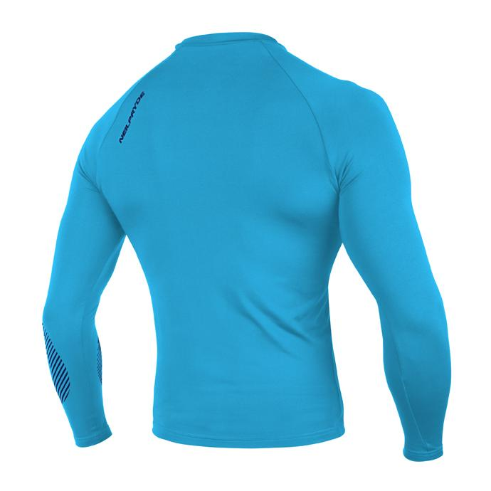 Гидромайка лайкр. NP 19 RISE RASHGUARD LS 10 C2 - W9RS0G523 C2 HOT TEAL / LEGION BLUE - Цвет Голубой - Фото 2