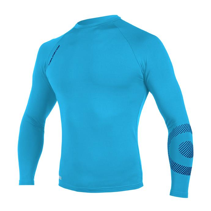 Гидромайка лайкр. NP 19 RISE RASHGUARD LS 10 C2 - W9RS0G523 C2 HOT TEAL / LEGION BLUE - Цвет Голубой - Фото 1